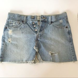 Levi's Distressed Jean Skirt Size 3